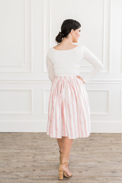 Cotton Candy Striped Skirt