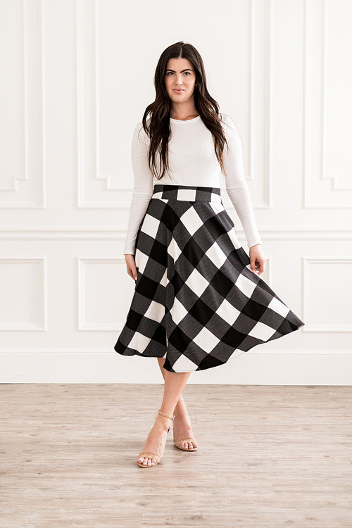 Up Town Checkered Skirt