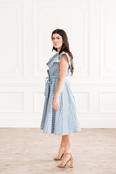 Blue Polka Dress