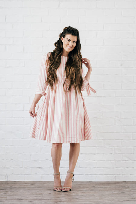 Nutcracker Fit and Flare Dress Light Pink