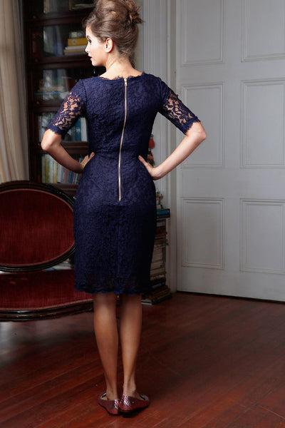 With This Ring Sheath Dress Navy
