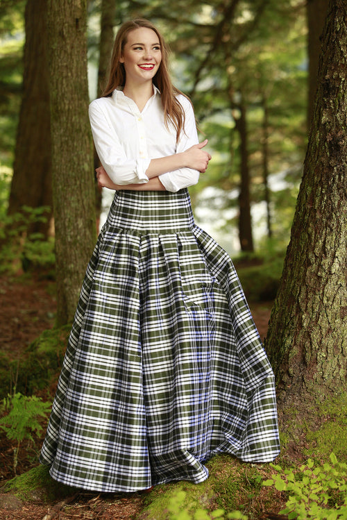 Waltzing Matilda Skirt Green Plaid-LIMITED EDITION