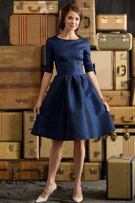 Lara Tie Dress Blue
