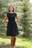 Blitzen Fit and Flare Black Dress