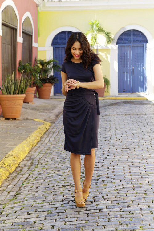 Natalia Sheath Dress Navy