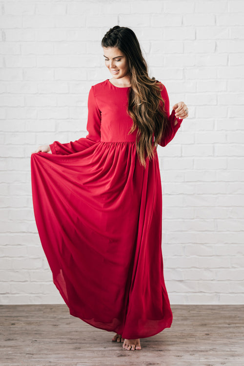 Nantucket Maxi Dress Red