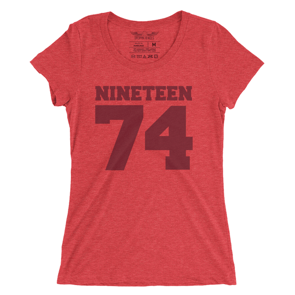 Nineteen 74 Woman's Tshirt Red Triblend