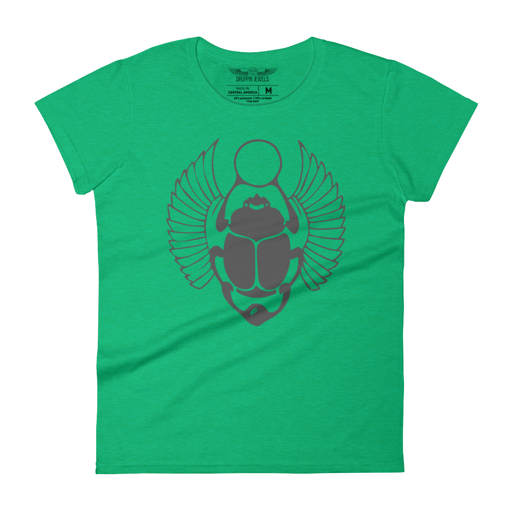 Khepre Women's Heather Green Tshirt