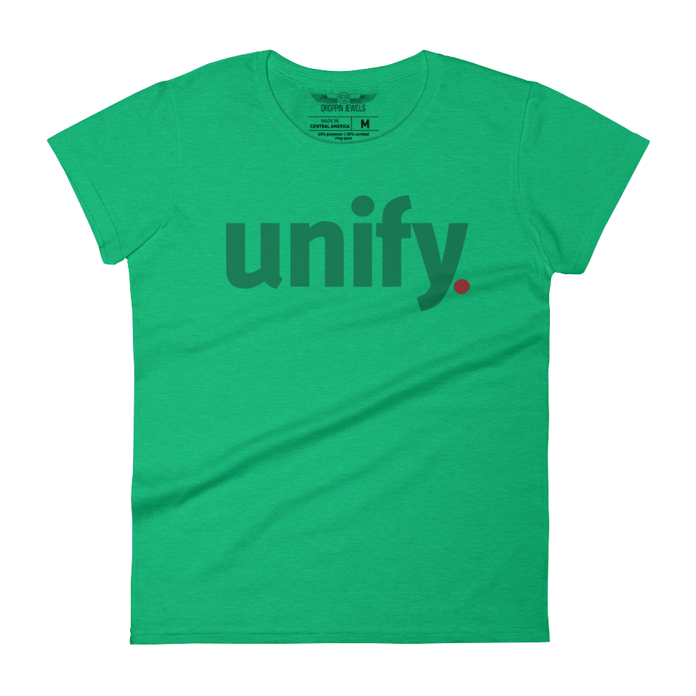 Unify Women's Tshirt Heather Green