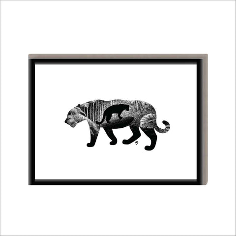 Dierenposter Panter - Safari