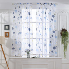 Tulle Printed Kitchen Living Room Curtain Modern Valance