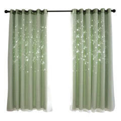 Hollowed Out Shading Window Blackout Curtain Drapes Purdah For Living, Bedroom