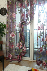 Jacquard Tulle Window and Door Curtain