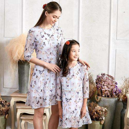 (Set of 2) Floral Lace Dress clothing - noviena.com