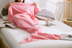 Warm and Soft Knitted Mermaid Blanket