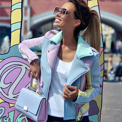 Women's Multicolor Zipper Jackets