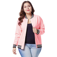 Autumn Women's Plus Size Zipper Baseball Outwear Slim Jackets