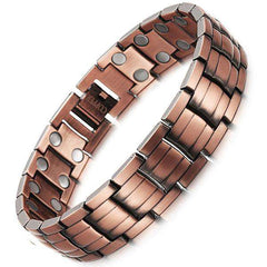 Unisex Red Copper Magnetic Healthy Bio Energy Bracelet   B