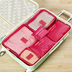 6 Pcs Waterproof Travel Storage Bag Set