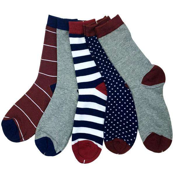 luxury colorful socks for men US 7.5-12 (5 pairs/lot )