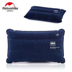 Compressed Inflated Non-slip Pillows Travel Outdoor Folding Pillow Suede Fabric