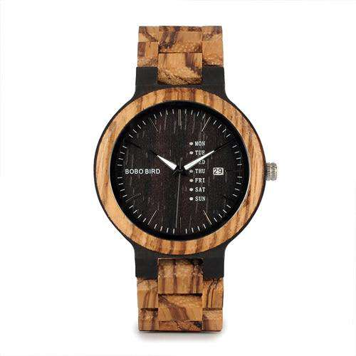 Men's Wood Watch with Date