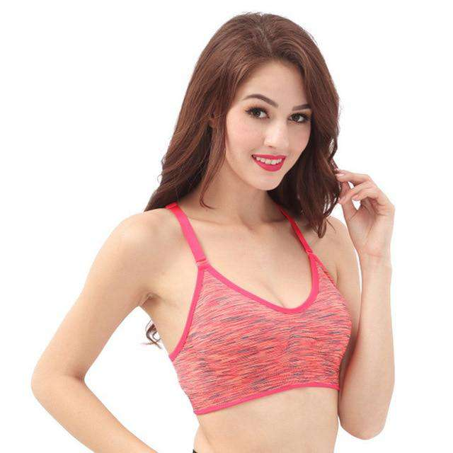 b0bc79334da96 Women s Push Up Brassiere Yoga Sports Bra Fitness Shirt with Padding Dry  Quick Tank Tops for