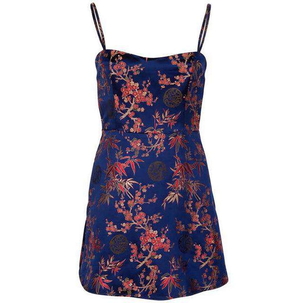 Strapless women party dress floral clothing