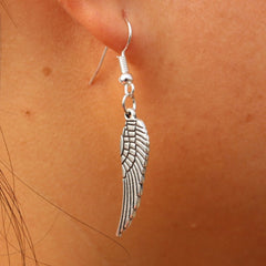 Women's Love Vintage Angel Wing Drop Dangle Earrings Jewelry
