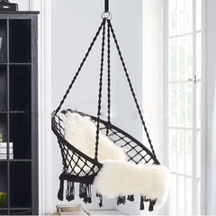 Swinging Hanging Safety Chair Nordic Style Round Hammock Outdoor Indoor Dormitory Bedroom