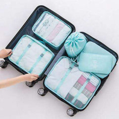7pcs  Multifunction Traveling Storage Bags Make Up Organizer Bag Set