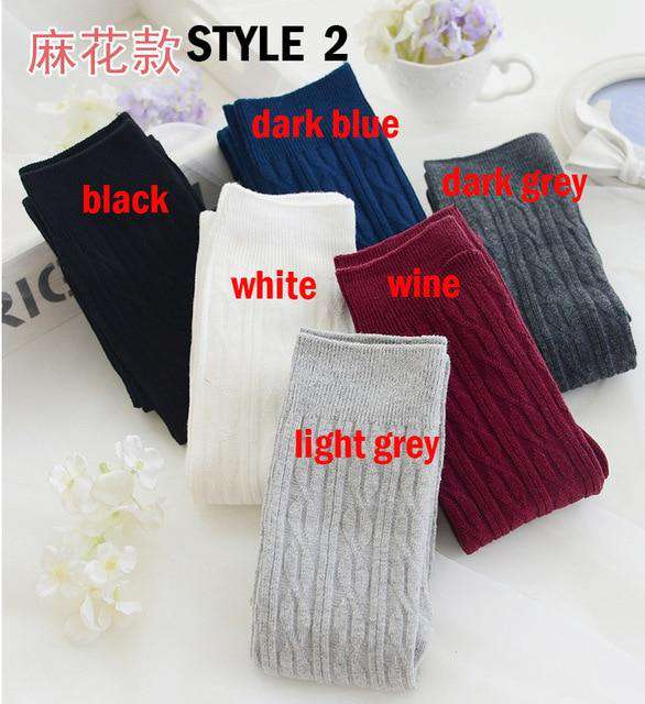 200005b40 New Fashion Women s Sexy Warm Stockings Long Cotton Thigh High Over The Knee  Socks Stockings For
