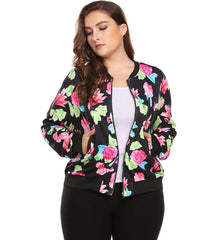 Women's Plus Size Short Jacket Coat Floral Print Clothing