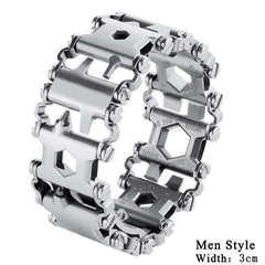 Creative Multi-function Stainless Steel Bracelet Wristband Screwdriver Bottle Opener Outdoor