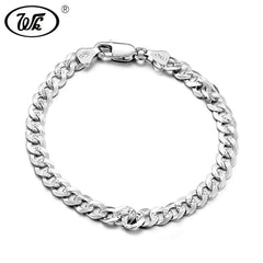 Men's Genuine 925 Sterling Silver Hip Hop Bracelet