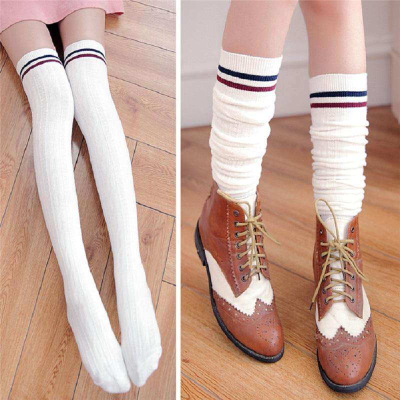 640adbe31 New Fashion Women s Sexy Long Cotton Thigh High Over The Knee Socks  Stockings For Girls Ladies