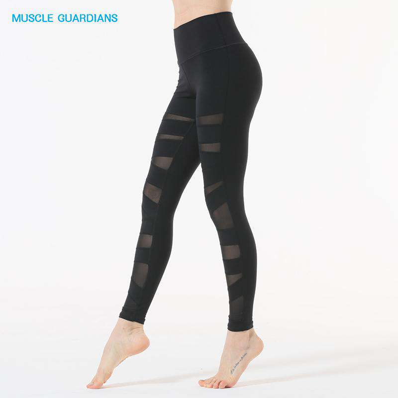 New Women s Sexy Print Mesh Patchwork Yoga Pants Slim High Waist Push Up  Sports Leggings Gym fcc1a79df35d