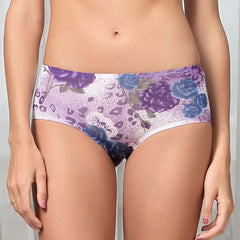 Fashion Sexy Floral Print Breathable Lovers Underpants Couples Underwear Clothing