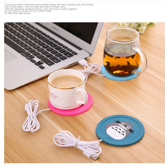 Creative Drink USB Heater Gadget Cartoon Silicone thin Cup-Pad Coffee Tea