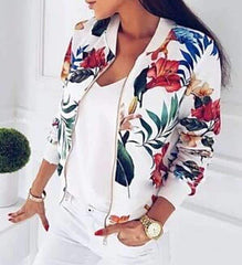 Autumn Outwear Women Floral Clothing