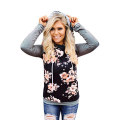 Womens Autumn Winter Floral Sweatshirt clothing