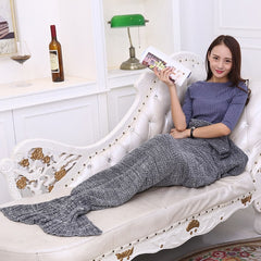 Mermaid Tail Blanket Warm and Soft for Fall and Winter
