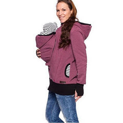Pregnant Women's Hooded Kangaroo Baby Carrier Pregnancy Clothing Maternity Coat Jackets