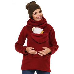 Maternity Hoodies Coat Jacket Kangaroo Baby Carrier Pregnancy Sweatshirts