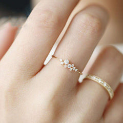 New Fashion Gold/Silver/Rose Gold Color Weave Crystal Rings Female Party Engagement Ring Jewelry
