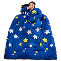 Winter Lazy Printed Bedding Comforter with Sleeves