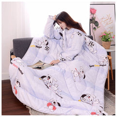 Winter Warm Thickened Lazy Blanket with Sleeves
