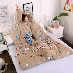 Printed Winter Lazy Warm Duvet with Sleeves