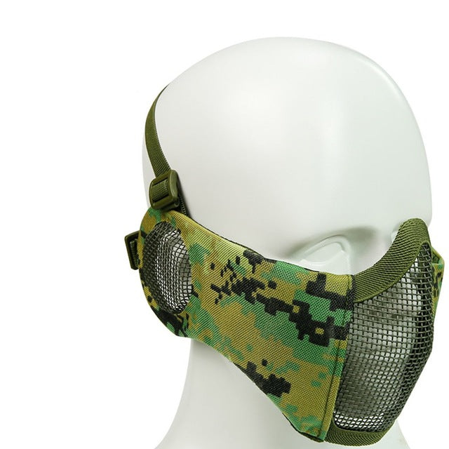 108ba4b3 Foldable Tactical Lower Face Protective Mask with Ear Protection