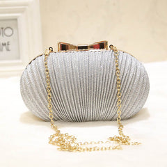 Women's Ruched Clutch Evening Bag Party Wedding Bride Clutch